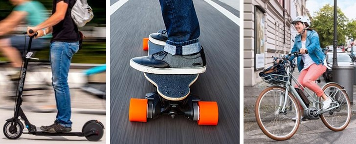 velo trotti skateboard
